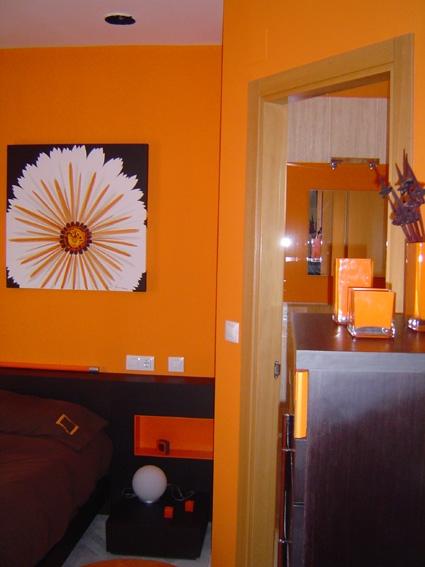 Color naranja dormitorio interiores3de - Decoracion naranja ...