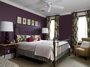 Color violeta para las paredes interiores3de - Dormitorio malva ...